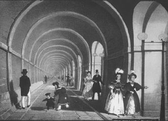 Industrial Revolution - The Thames Tunnel (opened 1843). Cement was used in the world's first underwater tunnel.