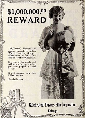 The $1,000,000 Reward - Advertisement for film