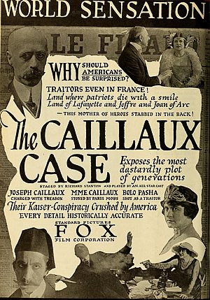 Henriette Caillaux - Advertisement for The Caillaux Case in Motion Picture World (1918)