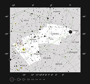 Eta Carinae - Eta Carinae and Carina Nebula in the constellation of Carina