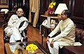The Chief Minister of Madhya Pradesh, Shri Shivraj Singh Chouhan calling on the Union Minister for Finance, Corporate Affairs and Information & Broadcasting, Shri Arun Jaitley, in New Delhi on January 15, 2015.jpg