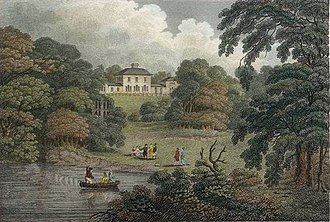 The Leasowes - Park and House in the early 19th century when the estate was owned by Charles Hamilton.