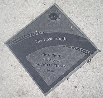 Clyde Beatty - Diamond honoring Beatty in the Studio City Walk of Fame