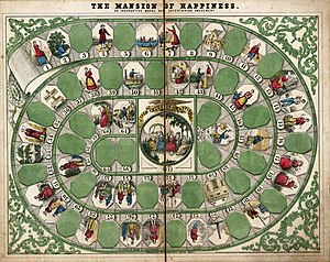 The Mansion of Happiness, a board game of the ...