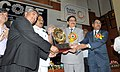 The Minister of State (Independent Charge) for Consumer Affairs, Food and Public Distribution, Professor K.V. Thomas presented the Rajiv Gandhi National Quality awards, at a function, in New Delhi on April 18, 2012.jpg