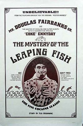 Een reclameposter voor The Mystery of the Leaping Fish