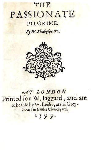 Title page of The Passionate Pilgrim
