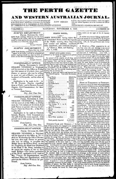 File:The Perth Gazette and Western Australian Journal 1(45).djvu