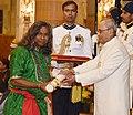 The President, Shri Pranab Mukherjee presenting the Padma Shri Award to Shri Mukund Nayak, at a Civil Investiture Ceremony, at Rashtrapati Bhavan, in New Delhi on March 30, 2017.jpg