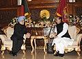 The Prime Minister, Dr. Manmohan Singh meeting the President of Bangladesh, Mr. Mohammad Zillur Rahman, in Dhaka, Bangladesh on September 07, 2011.jpg