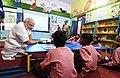 The Prime Minister, Shri Narendra Modi interacting with the children of a primary school, at Narur village, in Uttar Pradesh on September 17, 2018 (4).JPG