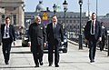 The Prime Minister, Shri Narendra Modi takes a short walk with the Prime Minister of Sweden, Mr. Stefan Lofven from Sager House to Rosenbad, in Stockholm, Sweden on April 17, 2018 (2).JPG