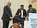 The Rio Paralympic Silver Medalist, Ms. Deepa Malik at the launching ceremony of the DigiDhan Meal to popularize cashless transactions in the Country, in New Delhi on December 25, 2016.jpg