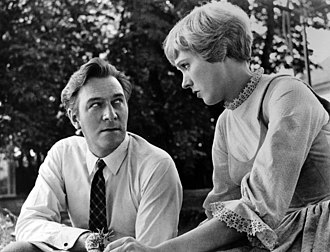Christopher Plummer - Plummer and Julie Andrews on the set for The Sound of Music in Salzburg, 1964