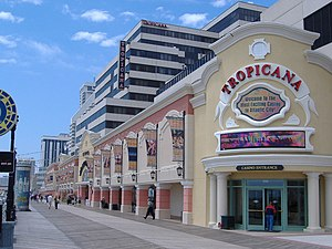 Picture of the Tropicana from the Boardwalk.