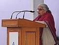 The Union Minister for Culture, Smt. Chandresh Kumari Katoch addressing at the inauguration of the New Delhi World Book Fair-2014, at Pragati Maidan, in New Delhi on February 15, 2014.jpg