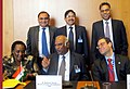 The Union Minister for Labour and Employment, Shri Mallikarjun Kharge addressing at the signing ceremony of IBSA Declaration, in Geneva on June 12, 2012.jpg