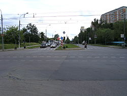 The beginning of dybenko street moscow jpg