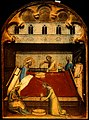 The birth of the Virgin Mary, her mother Anne washes her han Wellcome V0014987.jpg