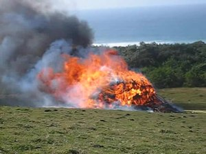 File:The burning of the ritual hut - Transkei.ogv