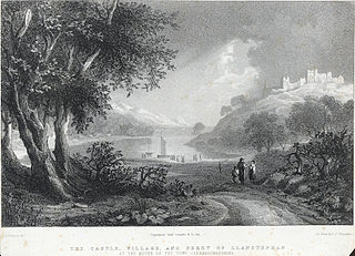 The castle, village, and ferry of Llanstephan: at the mouth of the Towy, Caermarthenshire