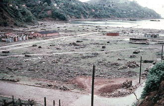 Corral, Chile - The destroyed center of Corral in Autumn 1960