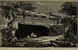 """Thomas Keightley - """"Tombs of the Kings of Juda"""", from The Crusaders, or Scenes, Events, and Characters from the times of the Crusaders, 1834"""