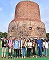 The delegates of the International Buddhist Conclave – 2018 visiting the Sarnath Stupa, at Varanasi, in Uttar Pradesh on August 26, 2018 (1).JPG