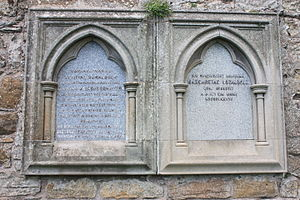 James Donaldson (classical scholar) - The grave of Chancellor James Donaldson and his family, St Andrews Cathedral churchyard