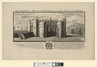The north east view of Picton castle: in the county of Pembroke