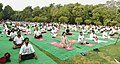 The participants in the mass performance of Common Yoga Protocol, on the occasion of the 4th International Day of Yoga -2018, at Lodhi Garden, in New Delhi on June 21, 2018 (1).JPG