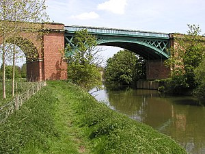 York–Beverley line - The 1846 cast iron bridge across the Derwent (2005)