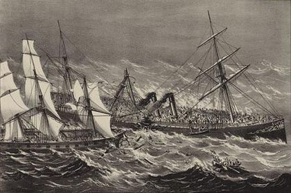 The sinking of Ville du Havre The sinking of the Steamship Ville du Havre.jpg