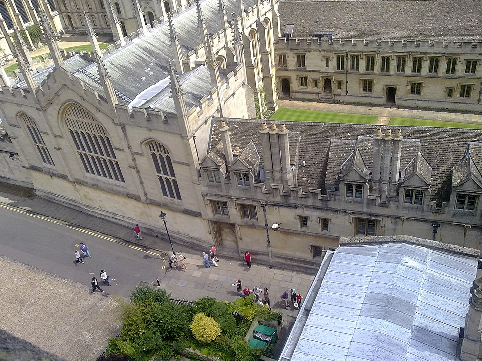 The south east corner of Radcliffe Square from above