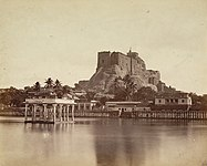 Trichy Teppakulam and Rockfort photographed in 1860