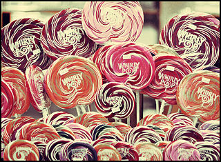 Lollipop candy on a stick