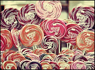 Lollipop - A lot of the rainbow-swirl lollipop