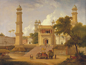 Thomas Daniell - Thomas Daniell - Indian Temple, Said to Be the Mosque of Abo-ul-Nabi, Muttra