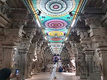 Thousand-Pillared Hall, 16th century, Meenakshi Temple at Madurai (3) (36817476384).jpg