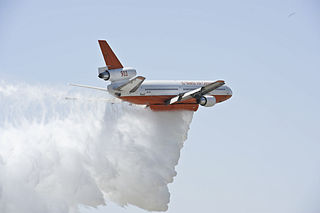 Aerial firefighting aerial service used to drop water or other liquids to combat wildfires
