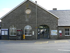 Thurso railway station from road.jpg