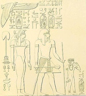 Sidelock of youth - Nefrubity (sister of Hatshepsut) as a child with the sidelock of youth