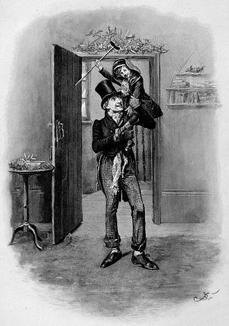 Tiny Tim (A Christmas Carol) - Bob Cratchit and Tiny Tim Cratchit as depicted in an illustration by Fred Barnard