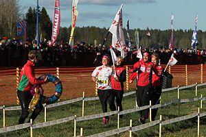 Tampereen Pyrintö - Pyrintö's women's team winning Tiomila in 2011.