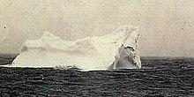 Photo d'un iceberg soupçonné d'être celui qui a été heurté le Titanic.