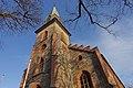 Tjøme kirke Church nygotisk langkirke 1866 Architect Anders Thorød Tower tårn Shadow skygge Winter afternoon light Færder Municipality, Norway 2020-01-15 1873.jpg