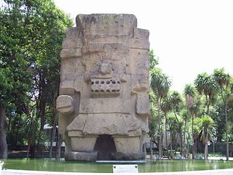 Texcoco, State of Mexico - Statue of Tlaloc moved to Mexico City