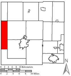 Location of Tod Township in Crawford County