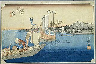 東海道五十三次 (浮世絵) ~新居宿(保永堂版)- Wikipedia