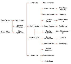 Okinawan martial arts - The genealogy of Tomari-te